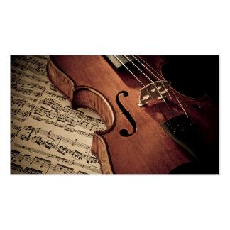 Violin Business Card Templates
