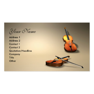 violin Double-Sided standard business cards (Pack of 100)