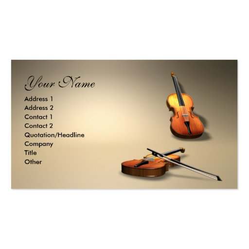 violin business card templates
