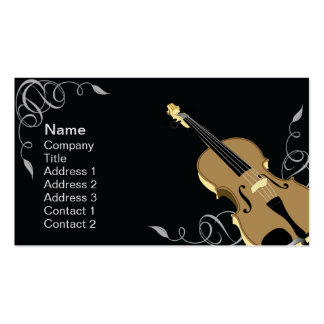 Violin - Business Double-Sided Standard Business Cards (Pack Of 100)