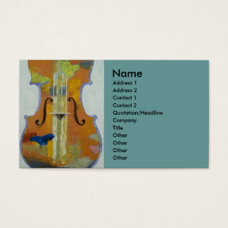 Violin Butterflies Business Card