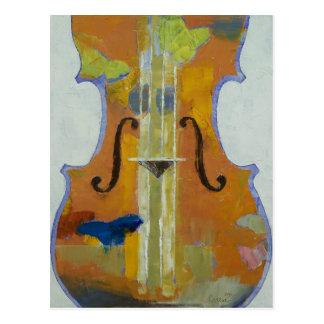 Violin Butterflies Postcard