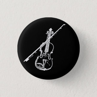 Violin Button - Distorted/Eroded - B/W