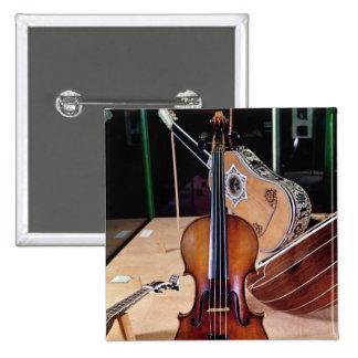 Violin, by Stradivari, Cremona, 1699 (photo; 2 Inch Square Button