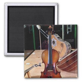 Violin, by Stradivari, Cremona, 1699 (photo; 2 Inch Square Magnet