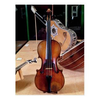 Violin, by Stradivari, Cremona, 1699 (photo; Postcard