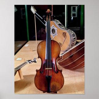 Violin, by Stradivari, Cremona, 1699 (photo; Poster