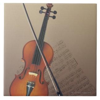 Violin Ceramic Tile