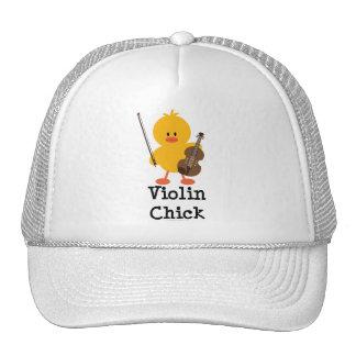 Violin Chick Cap Trucker Hat