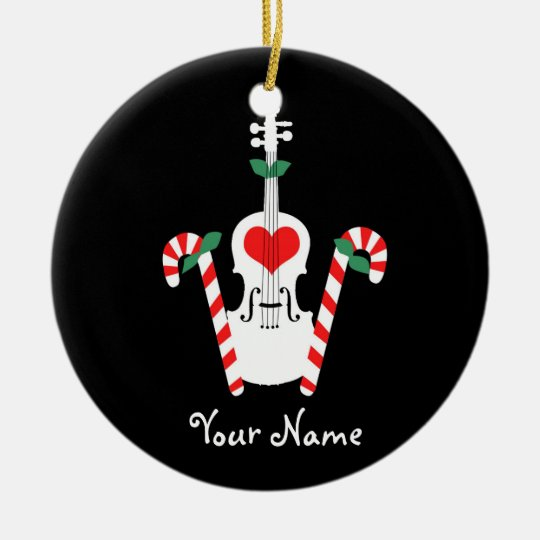 Violin Christmas Ornament | Zazzle.com