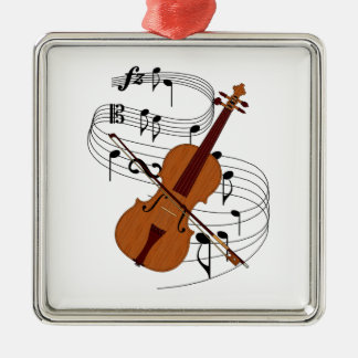 Violin Christmas Tree Ornaments
