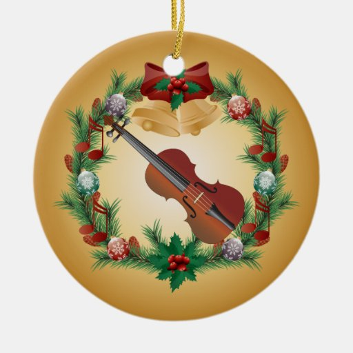 Violin Christmas Wreath Music Ornament Gift
