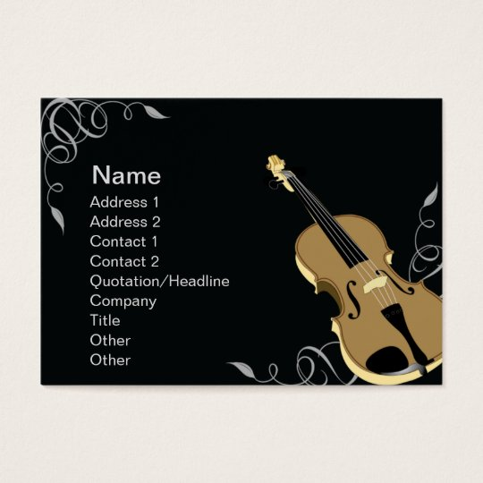 Violin - Chubby Business Card