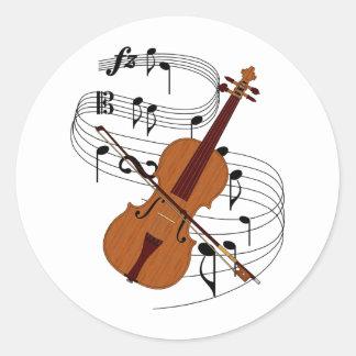 Violin Classic Round Sticker
