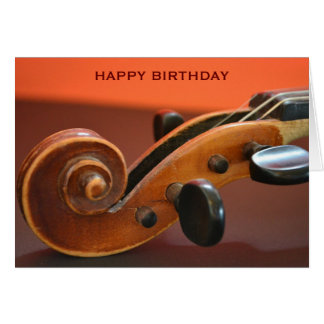 Violin classical musical instrument birthday card