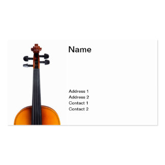 Violin close up Double-Sided standard business cards (Pack of 100)