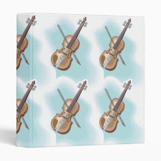 Violin Clouds Notebook Binder