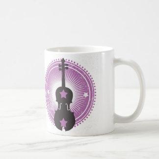 Violin Coffee Mug-Purple Badge Coffee Mug