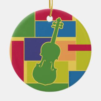 Violin Colorblocks Ornament