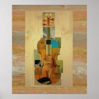 Violín compuesto póster