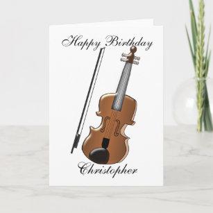 Violin Custom Birthday Card