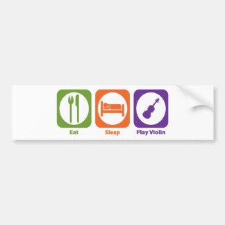 Violín de Eat Sleep Play Pegatina Para Auto