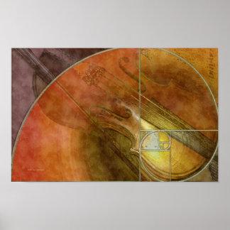Violín de Fibonacci Póster
