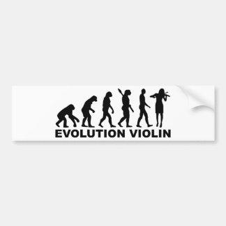 Violín de la evolución pegatina para auto