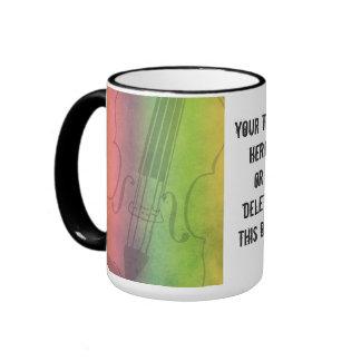 Violín del arco iris para los violinistas adaptabl taza a dos colores