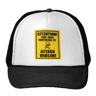 Violín del ataque gorra