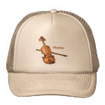 Violín del país gorras de camionero