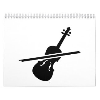 Violín del violín calendario