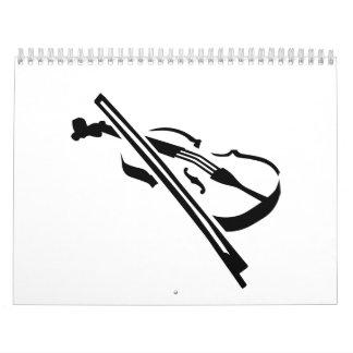 Violín del violín calendarios