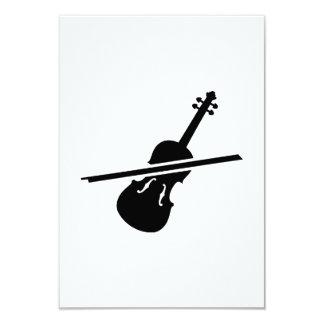 Violín del violín invitacion personal
