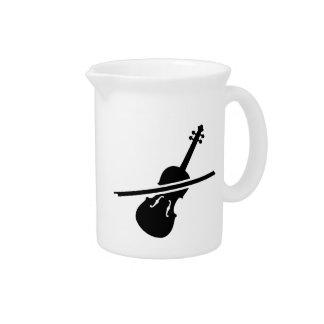 Violín del violín jarras de beber