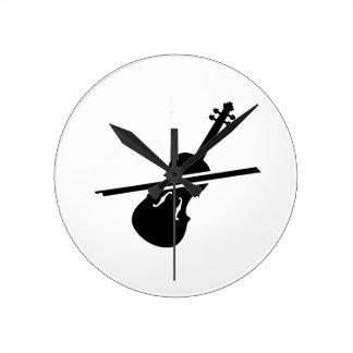 Violín del violín reloj de pared