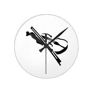 Violín del violín relojes de pared