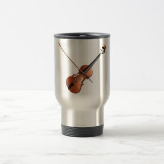 Violin Design Travel Mug