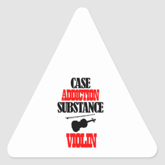violin designs triangle sticker