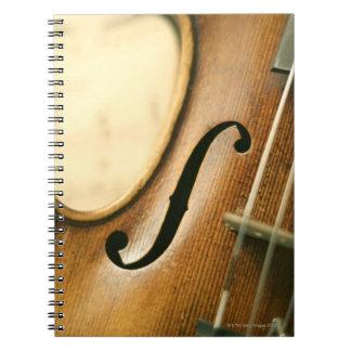 Violín detallado libretas espirales