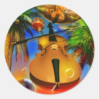 violin dream by Lenny Classic Round Sticker