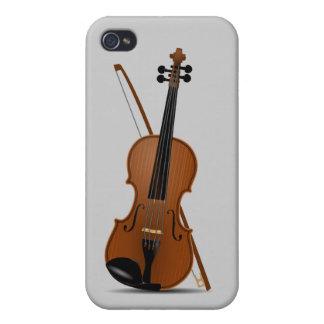 Violín e instrumento musical Musican de la secuenc iPhone 4/4S Fundas