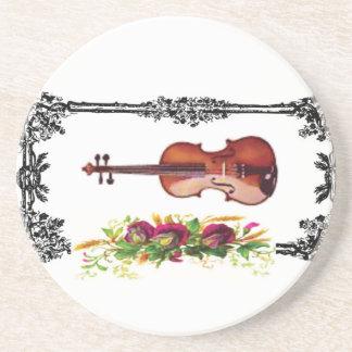 violín en la caja de flores posavasos manualidades