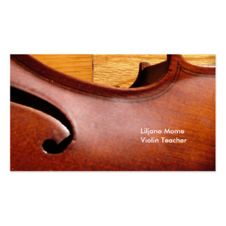 Violin F Hole Violin Business Cards Template