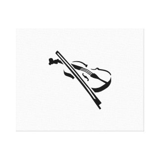 Violin Fiddle Stretched Canvas Print