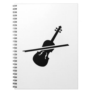 Violin Fiddle Spiral Notebook