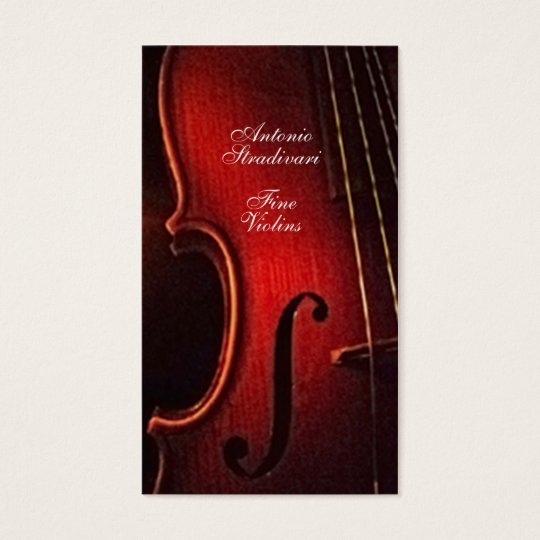 Violin fine instrument maker luthier business card zazzle violin fine instrument maker luthier business card reheart Images