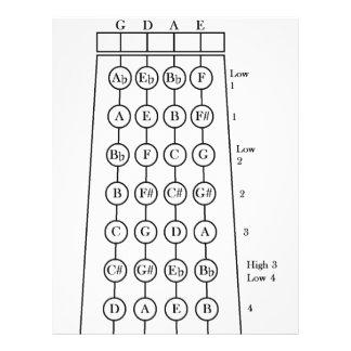 Violin Fingering Chart Flyer