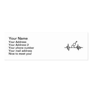 Violin frequency Double-Sided mini business cards (Pack of 20)