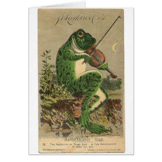Violin Frog Card